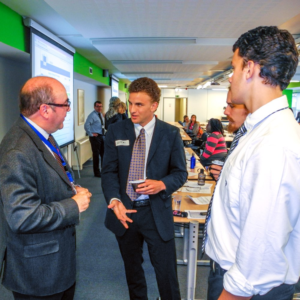 SIT students talking with experts at the European Commission in Brussels, Belgium