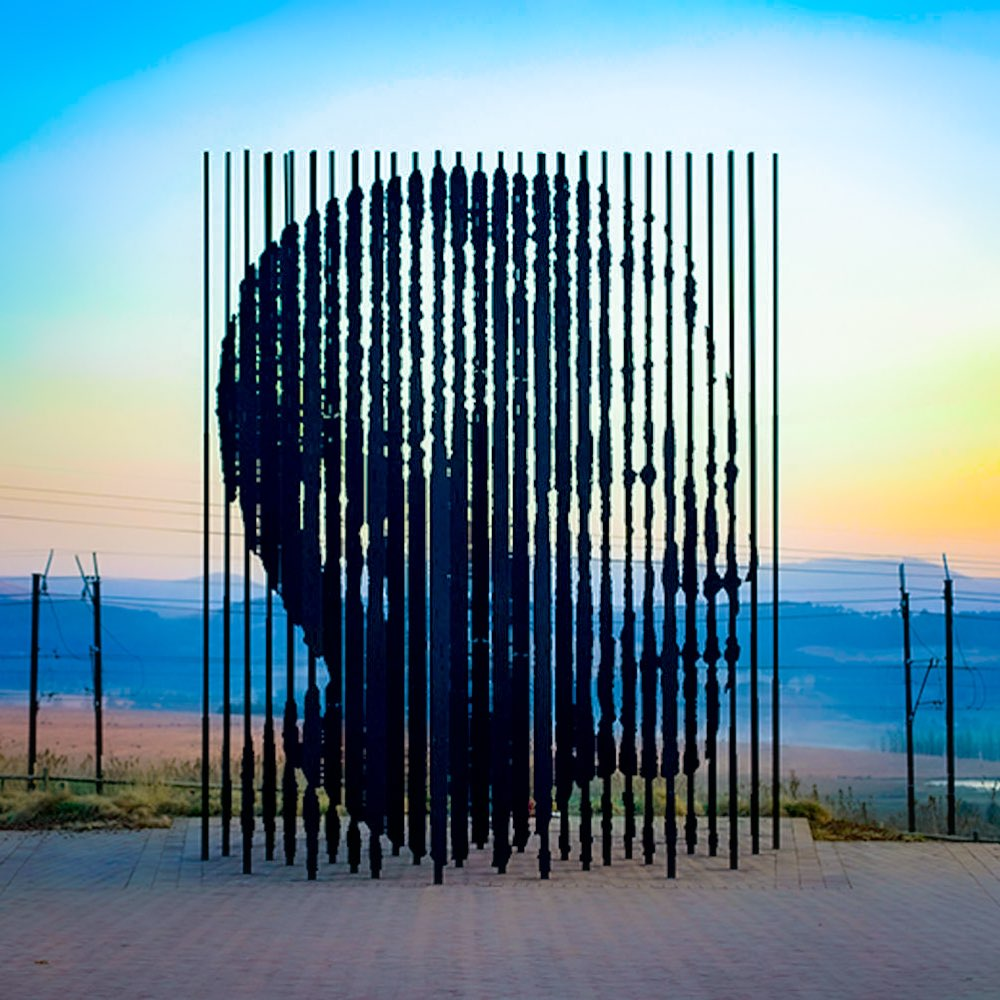 Nelson Mandela Memorial by Marco Cianfanelli in Howick, South Africa