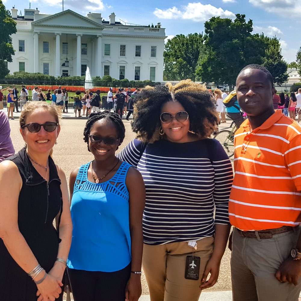 SIT staff and students in front of the White House in Washington D.C.